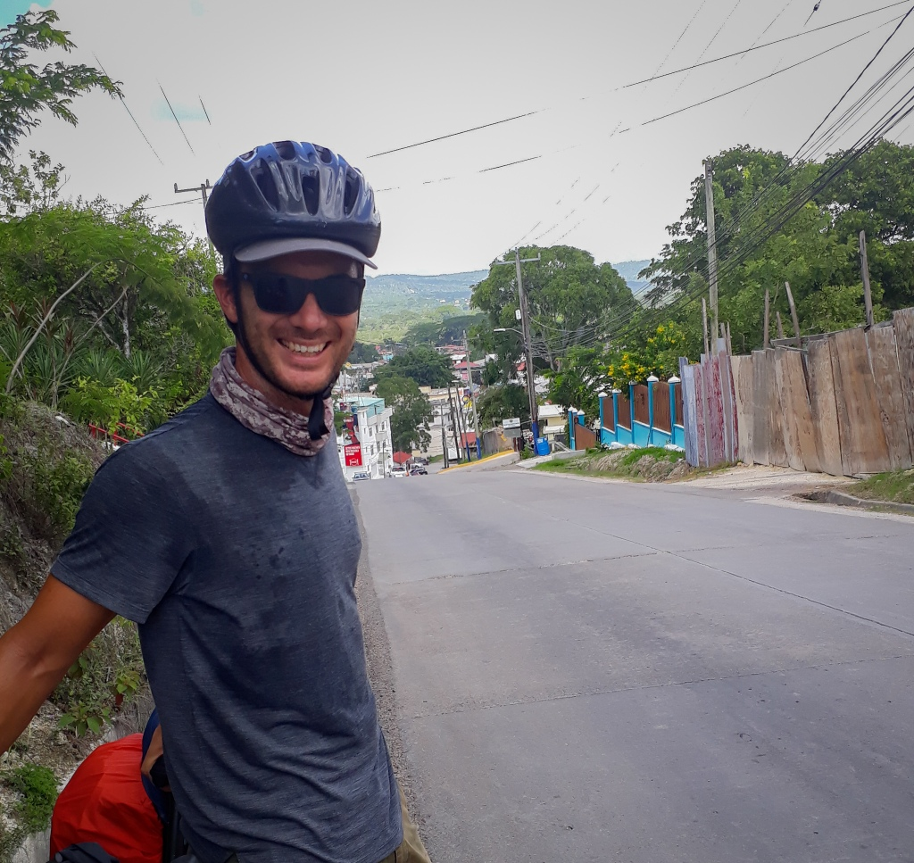 The smile of my face after smashing the last steep hill out of the town.