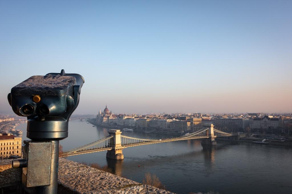 The Chain Bridge - taken from Buda Castle