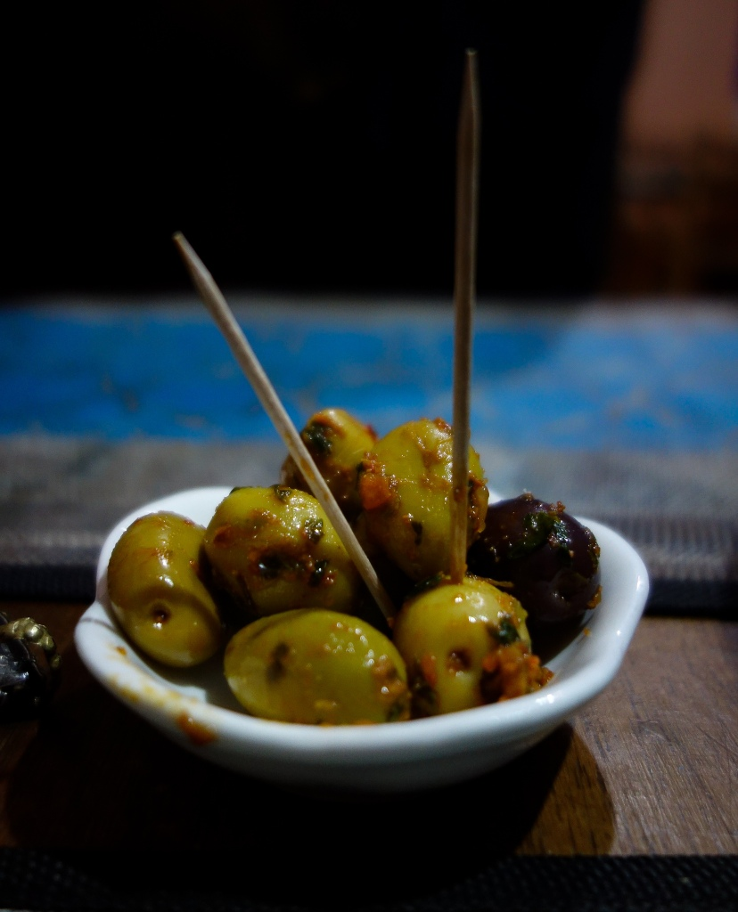 A simple plate of olives can be incredible