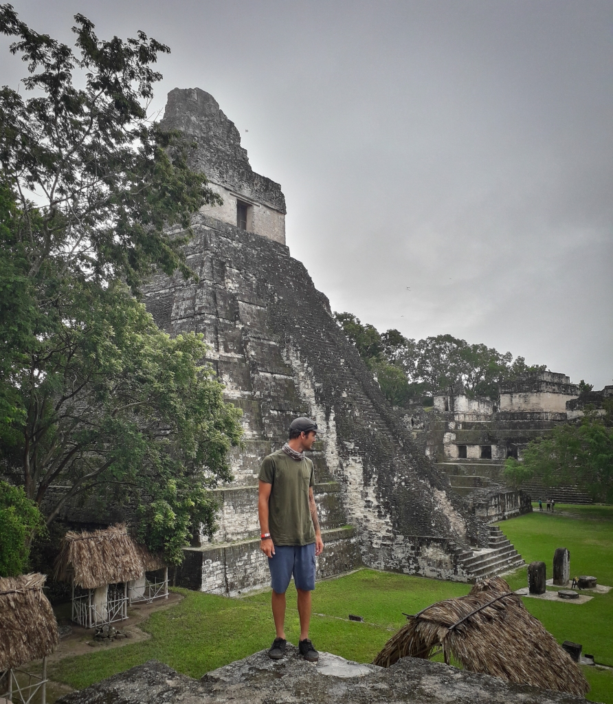Looking out over the delicately restored Central Plaza, the history heart of the city of Tikal.